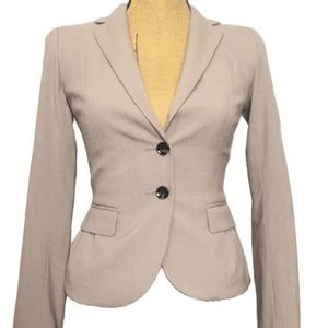 H&M Tan Beige Career Classic Fitted Blazer Suit 2